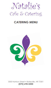 Natalies Cafe Catering Menu